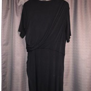 Eloquii Black Asymmetrical Jersey Dress